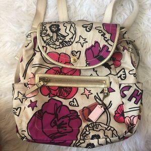 coach poppyseed backpack